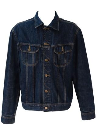 Lee Dark Blue Denim Jacket - XL / XXL