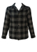 Aspesi Black & Grey Check Wool Jacket - S/M