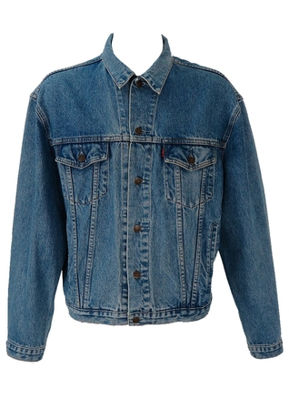 Levis Denim Jacket in Mid Tone Blue - L / XL