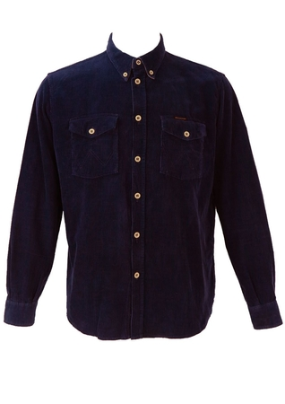 Wrangler Blue Corduroy Shirt - M/L