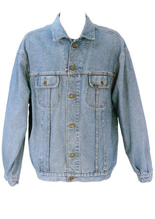 Lee Denim Jacket in Mid Tone Blue - XL/XXL