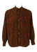 Shirt with Black, Orange & Brown Abstract Print - L/XL