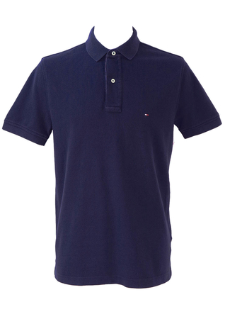 Tommy Hilfiger Blue Polo Shirt T-Shirt - L