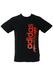 Adidas Black T-Shirt with Orange Graphic Print - S