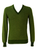 Two Tone Green Striped V-Neck Jumper - XS/S