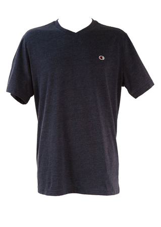 Champion V-neck Blue T-shirt - XXL/XXXL