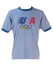 Levis Blue T-shirt with USA Olympics Graphic - L