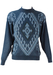 Jumper with Blue & Grey Diamond Patterned Jumper - M/L
