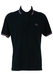 Fred Perry Black Polo Shirt with Lilac & White Trim - L