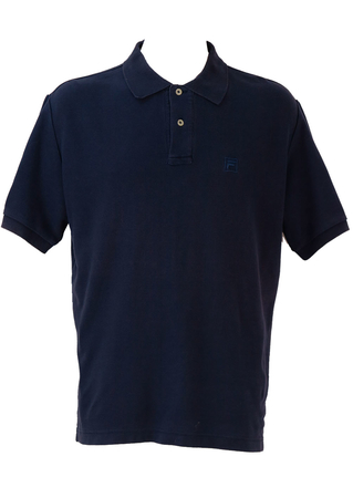 Fila Navy Blue Polo Shirt - L/XL