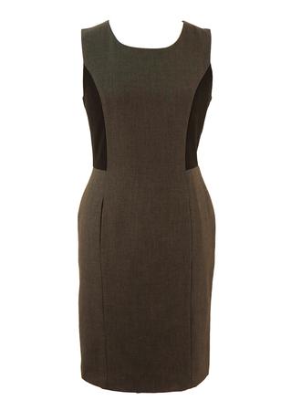 Calvin Klein Grey and Black Shift Dress - M