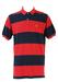 Polo by Ralph Lauren - Blue & Red Striped Polo Shirt - L/XL