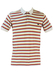 Kappa Striped Polo Shirt in Yellow, Red & Grey - M