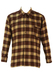 Brown, Camel & Burgundy Check Flannel Shirt - L
