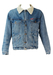 Blue Denim Fleece Lined Sherpa Jacket - M/L