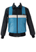 Navy, Light Blue and White Ski Puffa Jacket - M