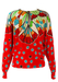 Red and Cream Jumper with Polka Dot & Tassle Pattern - M