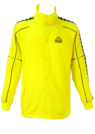 Yellow & Black Kappa Jacket with Detachable Sleeves - L/XL