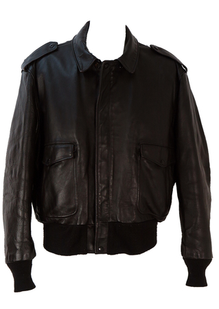Schott Brown Leather Flight Bomber Jacket - XL/XXL