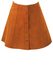 Vintage 60's Style Tan Suede A Line Mini Skirt - S