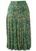 Ditsy/Floral Print Midi Pleat Skirt  - S
