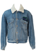 Blue Denim Fleece Lined Sherpa Jacket with Detachable Collar - L/XL