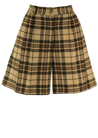 Tartan High Waist Shorts - S