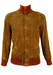Light Brown Suede Bomber Jacket - S