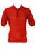 60's Style Mesh Knit Russet Polo Shirt  - M