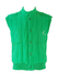 Conte of Florence Green Ribbed Gilet - S/M
