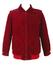 Burgundy Corduroy Zip Front Jacket - L