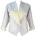 Metallic Silver & White Jacket with Triangular Lapels - M