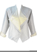 Metallic Silver & White Jacket with Triangular Lapels - M