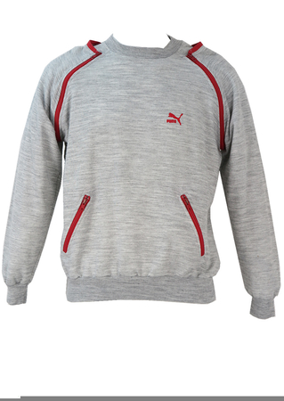 Puma Grey Sweatshirt with Short & Long Sleeve Options! - M