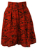 Mini Length Red & Orange Camouflage Print Culottes - S