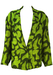 Byblos Vintage 1990's Green Patterned Oversized Jacket - M/L