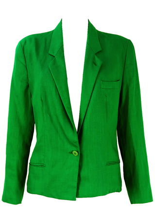 Mani Emerald Green Linen Jacket - M/L