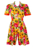 Laura Biagiotti 'Junior' Floral Patterned Short Sleeved Playsuit - S