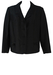 Vintage 1950's Black Jacket with Bow Detail Pockets - L