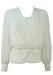 Vintage 1980's White Wrap Front Blouse - L