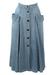 Maxi Blue Denim Button Down Flared Skirt - S