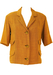 Vintage 1960's Short Sleeve Lightweight Ochre Jacket - L