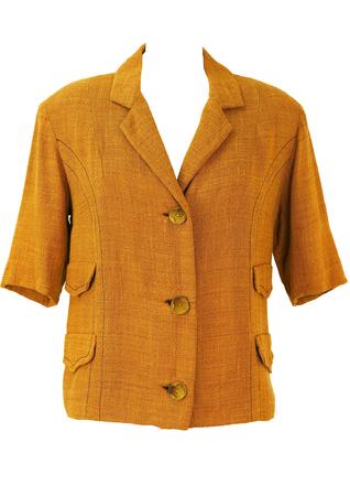 Vintage 1960's Short Sleeve Lightweight Ochre Jacket - L