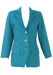 Blue Tailored Blazer with Decorative Buttons - XS/S