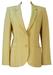 Textured Cream Lightweight Wool Blazer - M