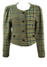 Tyrolean Jacket with Blue, Green and Brown Check Pattern - M