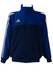 Adidas Blue and Grey Track Jacket - M/L