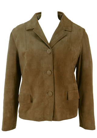 Vintage 1960's Brown Suede Jacket - M/L
