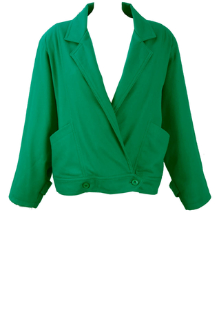 Turquoise Low Cut Fastening Jacket - L