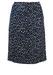 Vintage 1960's Blue & White Patterned Knee Length Pencil Skirt - M